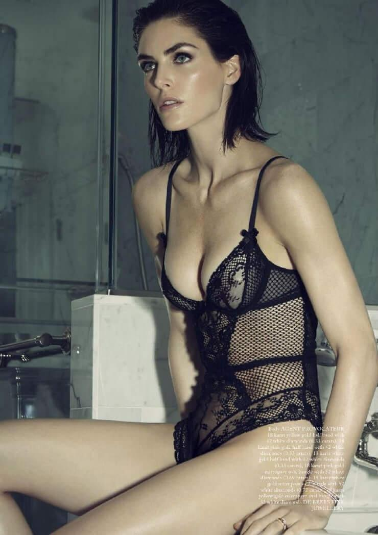 Hilary Rhoda sexy lingerie pics