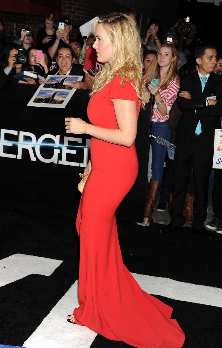 Kate Winslet hot red dress pics