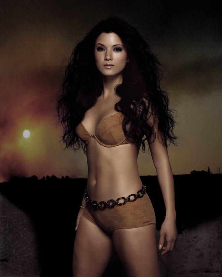 Kelly Hu sexy bikini pics