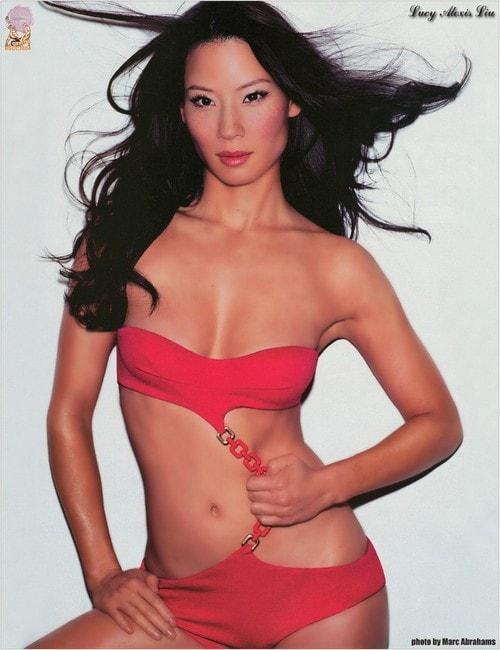 Lucy Liu sexy cleavage pics