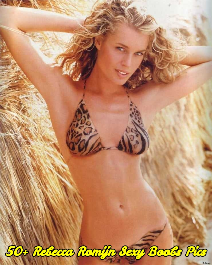 Rebecca Romijn sexy boobs pics