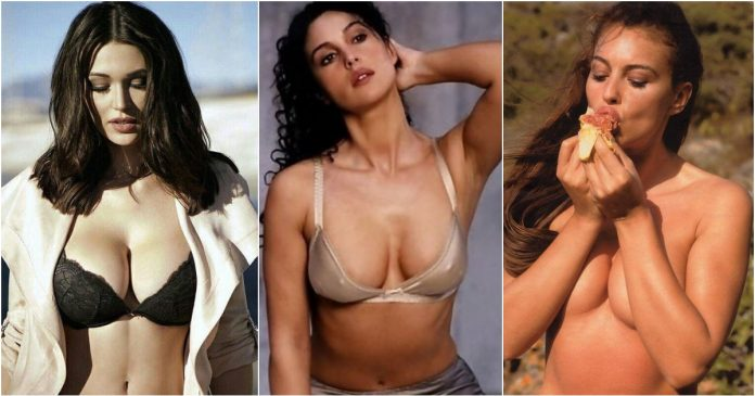 51 Sexiest Monica Belucci Boobs Pictures Will Tempt You To Bury Your Head In-between