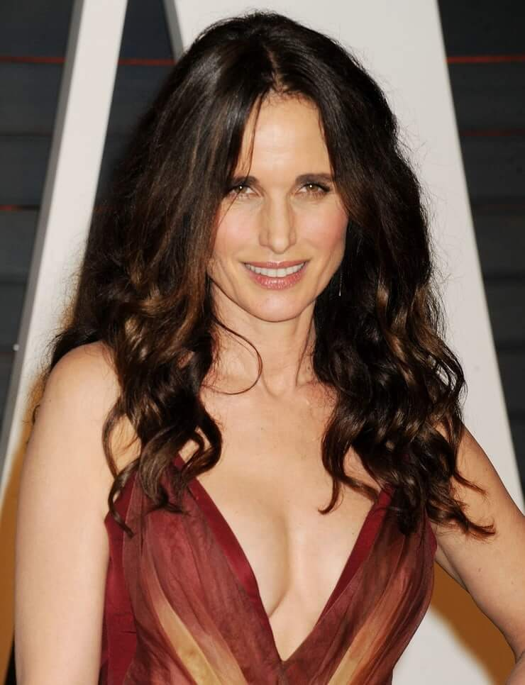 Andie MacDowell sexy cleavage pics
