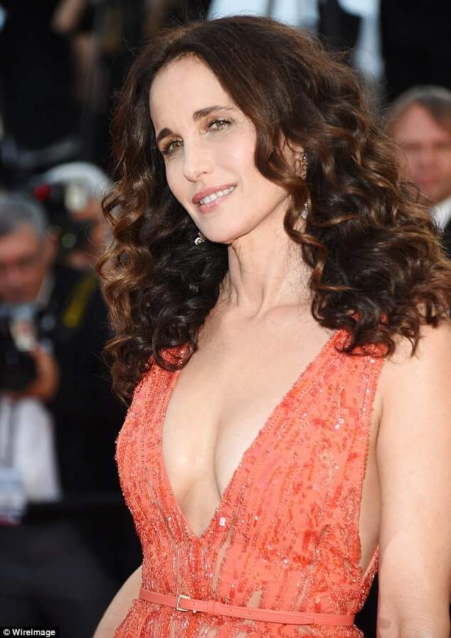 Andie MacDowell sexy side boobs pics