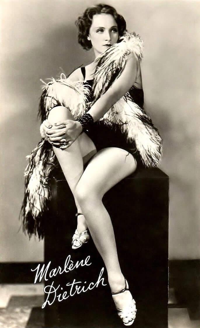 Marlene Dietrich sexy thigh pics