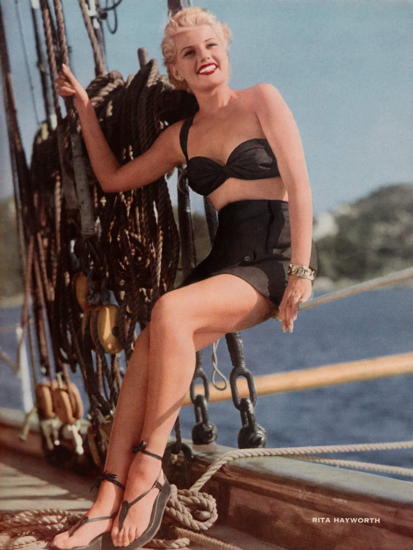 Rita Hayworth sexy bikini pics