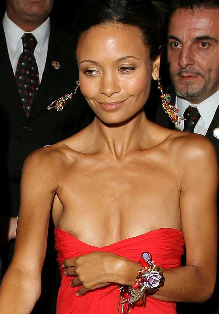 Thandie Newton cleavage pics