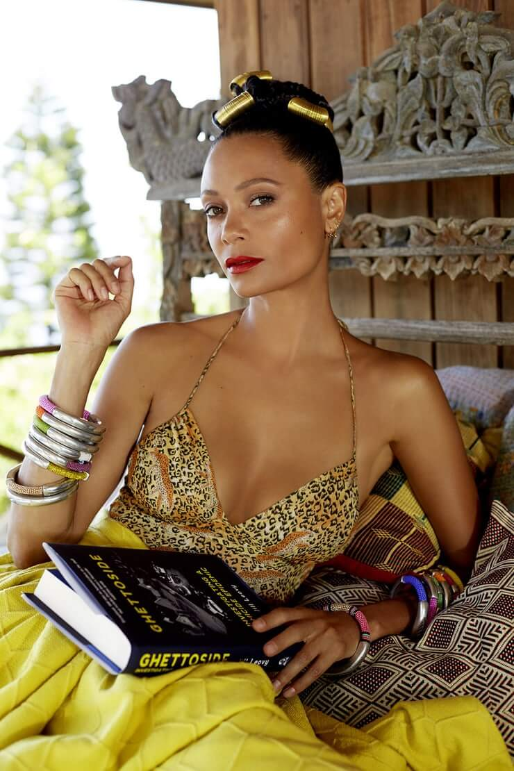 Thandie Newton sexy cleavage pics