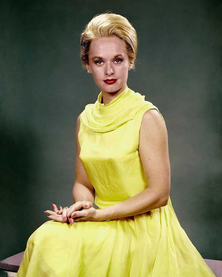 Tippi Hedren sexy yellow dress pics