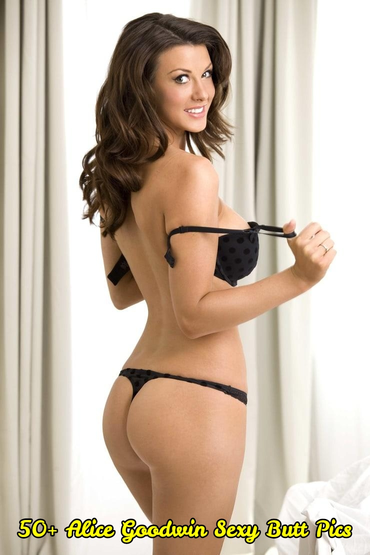 Alice Goodwin sexy butt pic