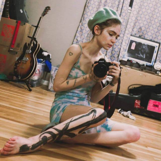 Grimes sexy thigh