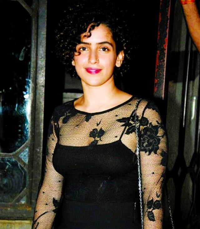 Sanya Malhotra sexy lips pics