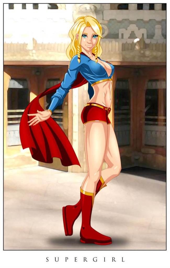 Supergirl sexy legs